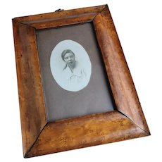Antique Birds eye Maple veneer frame, photograph