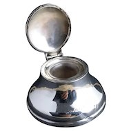 Vintage sterling silver capstan inkwell, 20's