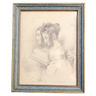 Antique print, The Sisters, The book of beauty