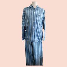 Gents vintage 1940's striped pajamas