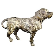 Antique cold painted bronze beagle dog
