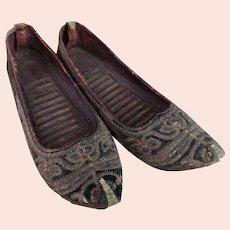 Antique 19th century Persian slippers
