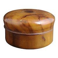 Antique olive wood tobacco box