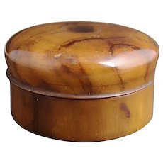Antique olive wood tobacco box