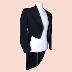 Vintage gents 1950's Black tailcoat
