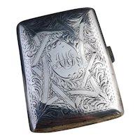 Antique sterling silver cigarette case