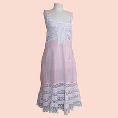 Antique Edwardian dress slip, petticoat