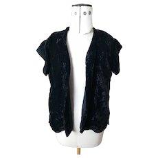 Vintage 1930's Black velvet jacket