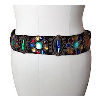 Vintage 1930's exotic jewelled belt