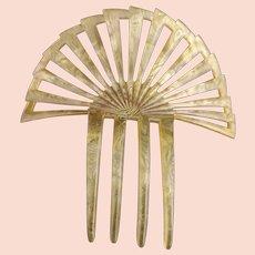 Antique Victorian celluloid hair comb