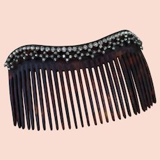 Antique Edwardian paste hair comb