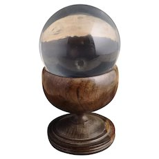 Antique scientific magnification lense and stand