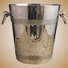 Vintage silver plated wine cooler, ice bucket
