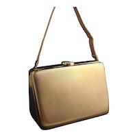 Vintage Art Deco carryall compact purse, LSM