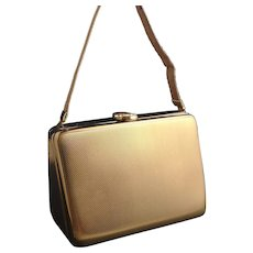 Vintage Art Deco carryall compact purse, LSM