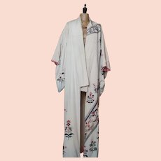Vintage silk kimono house jacket, robe