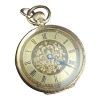 Antique 18kt gold pocket watch, fob watch