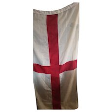 Antique St George's Cross English flag, large