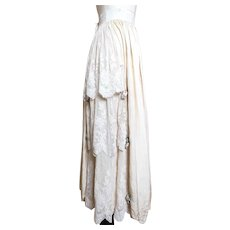 Antique silk and lace skirt, Edwardian
