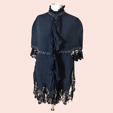 Antique Victorian mourning cape