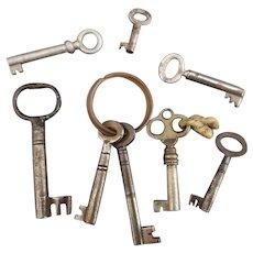 Vintage and antique keys, skeleton keys