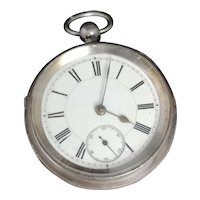 Antique Victorian silver pocket watch
