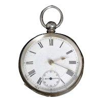 Antique fine silver pocket watch, Swiss, Paragon