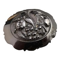 Victorian whitby jet brooch, fruit