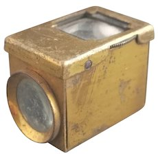 Antique field microscope, magnifying box