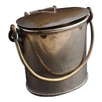 Antique novelty vesta, milk pail