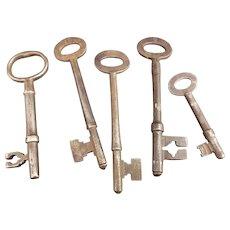 Antique cast iron keys
