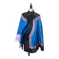 Vintage 20s Chinese silk padded jacket, koi and butterflies