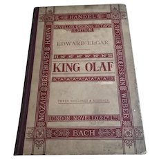 Antique opera book, King Olaf, Bach