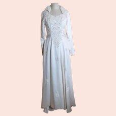 Vintage 50s liquid satin gown, wedding dress