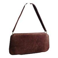 Vintage 1940's suede handbag