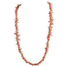 Victorian branch coral necklace