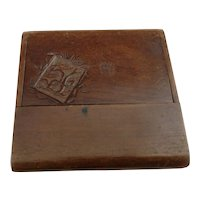 Antique wooden card case