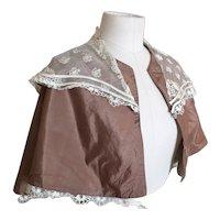 Antique Victorian silk day cape