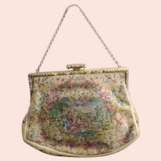 Antique tapestry evening purse