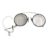 Vintage 20s faux tortoiseshell glasses