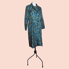 Vintage 60s two piece, dress and duster coat