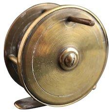 Antique brass fishing reel