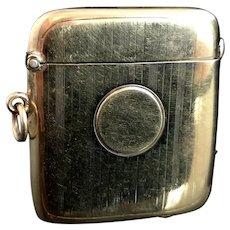 Antique 9ct gold vesta case, Edwardian