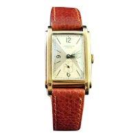 Vintage 9k gold Gents Wristwatch, JW Benson, 1940s