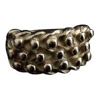 Vintage gents 9k gold keeper ring