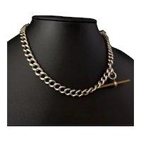Antique silver albert chain, watch chain