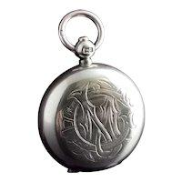 Antique silver sovereign case, Edwardian