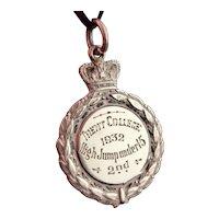 Antique silver watch fob, pendant