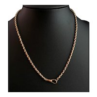 Art Deco gold filled watch chain necklace