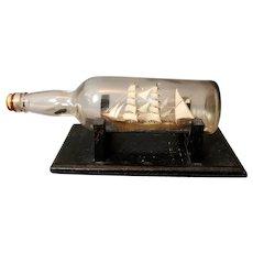 Antique Ship in a bottle, nautical model